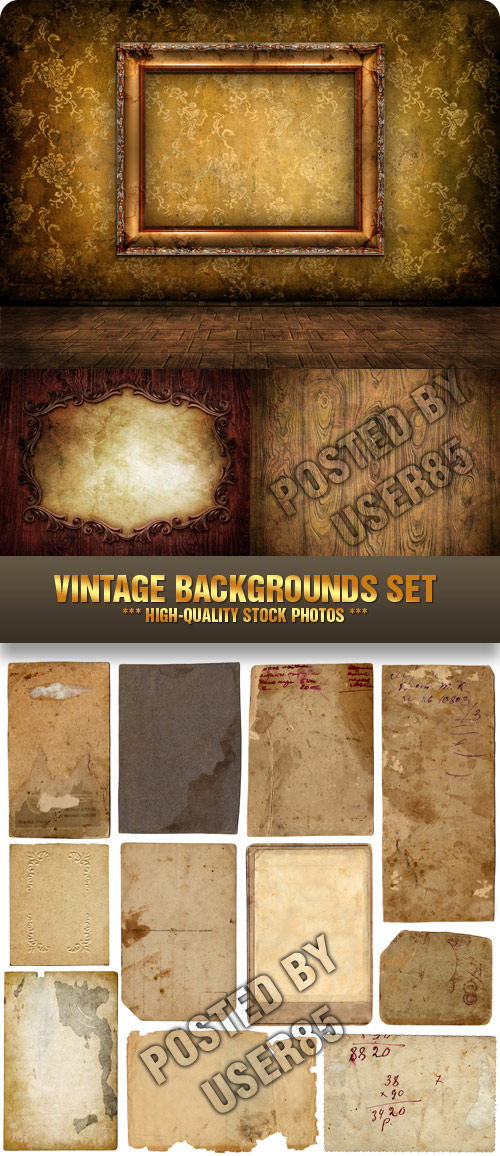 Stock Photo - Vintage Backgrounds Set