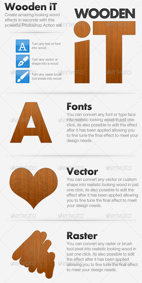 GraphicRiver - Wooden iT - Convert To Wood Action 119326