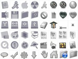 Mac OSX and Similar Icons - Grey (Brushed) Pack