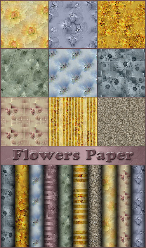 ��������� �������� / Flowers Paper