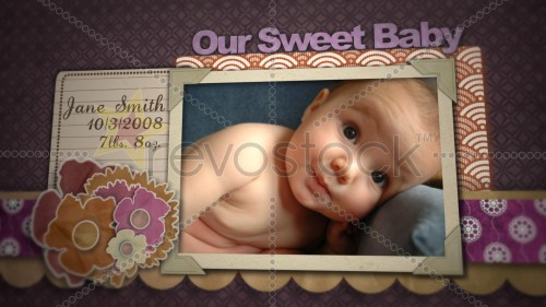 Revostock - Baby Girl Scrapbook 153583 - Projects for After Effects