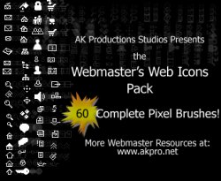 Webmaster's Web Icon Pack. Кисти для Photoshop