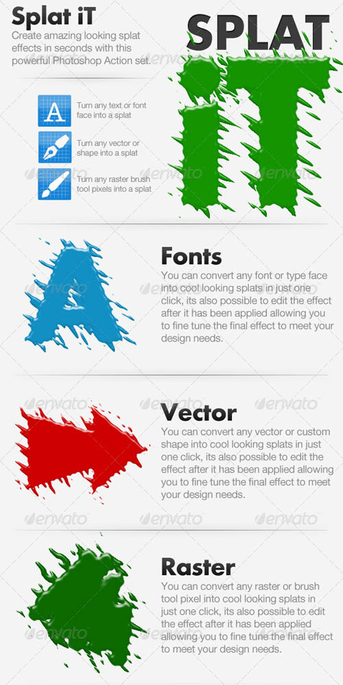 GraphicRiver - Splat iT - Give Your Work The Splat Effect! 130679