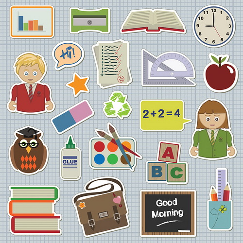 School icons vector by GianFerdinand