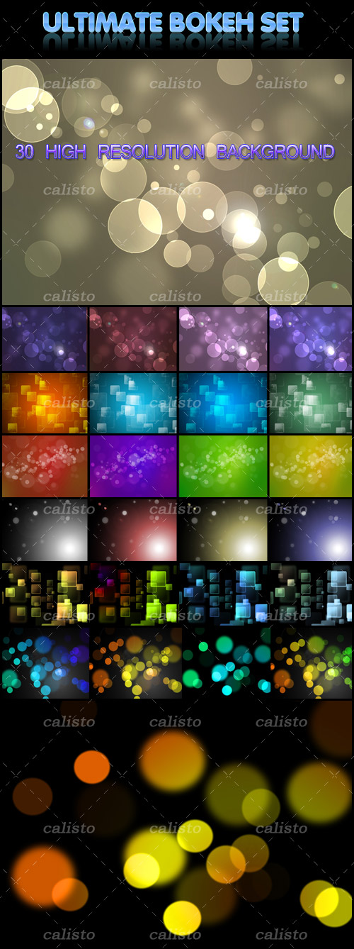MediaLoot - Ultimate Bokeh Set: 30 High-Resolution Bokeh Backgrounds