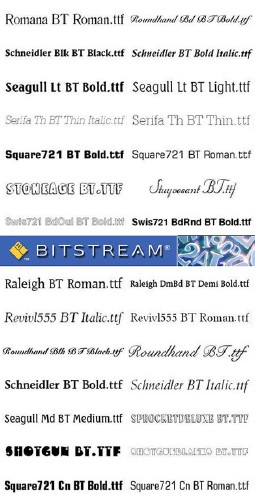 Bitstream Fonts - Full Collection
