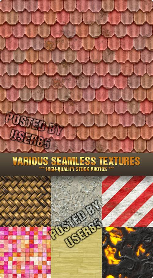 Stock Photo - Various Seamless Textures