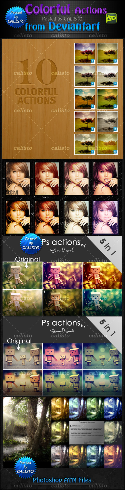 Colorful Actions