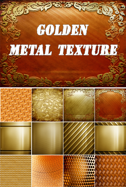 Golden metal textures