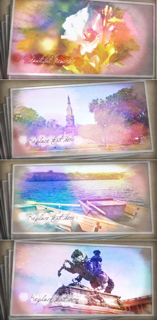 Videohive - Painted Postcards 162766 - Project for After Effects