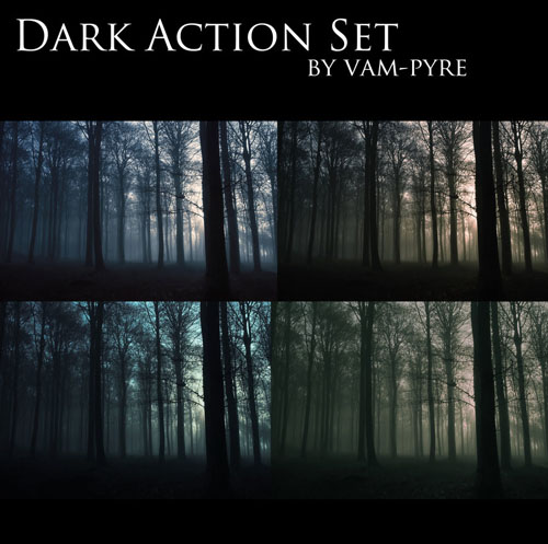 Action for Photoshop - Dark Set for Photoshop