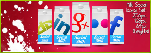 Social Milk Icons Pack