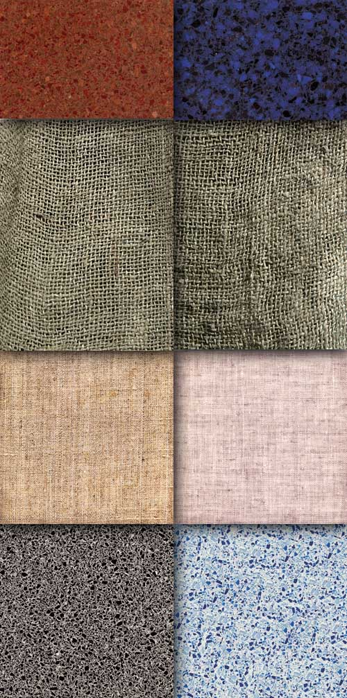 A set of fabric textures