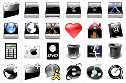 Mac OSX and Similar Icons - Blacks Pack + Tux'n Pack
