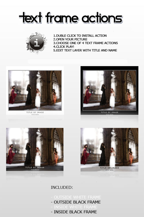 Frame Actions Pack for Photoshop