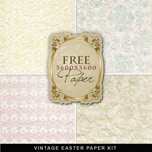 Textures - Vintage Easter Papers
