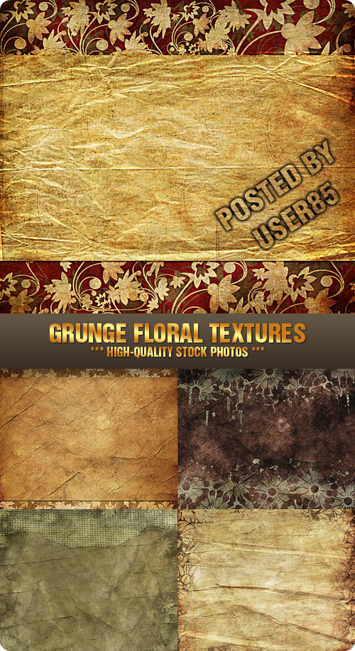 Stock Photo - Grunge Floral Textures