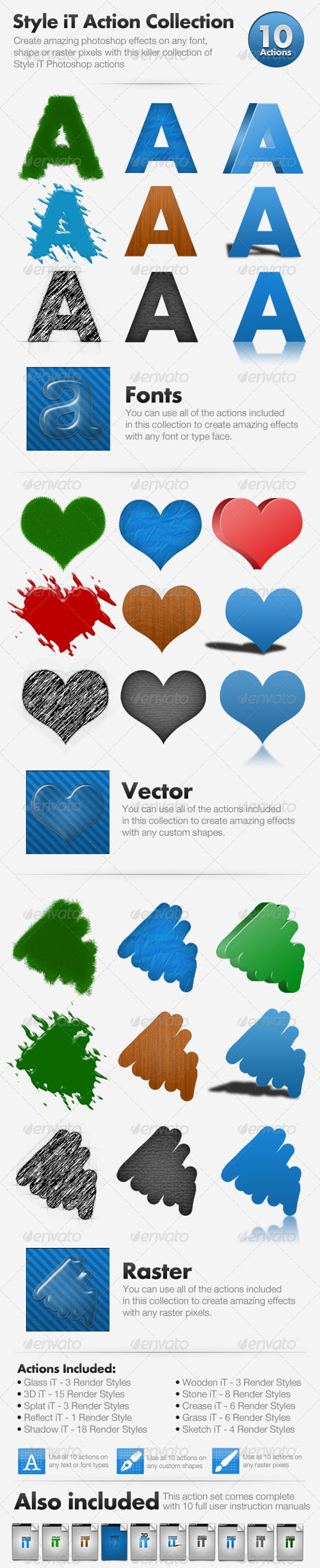 GraphicRiver Style iT Action Collection – 10 actions RETAIL