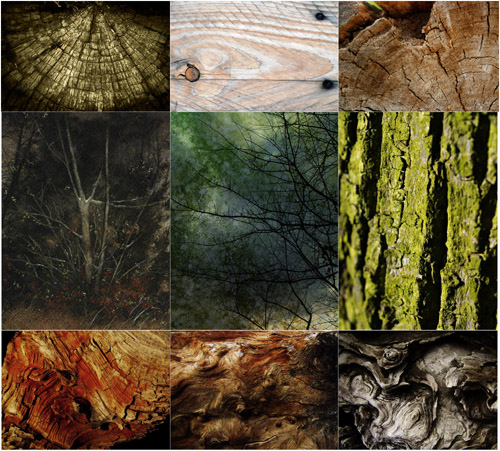 Textures for Adobe Photoshop - Wooden Textures