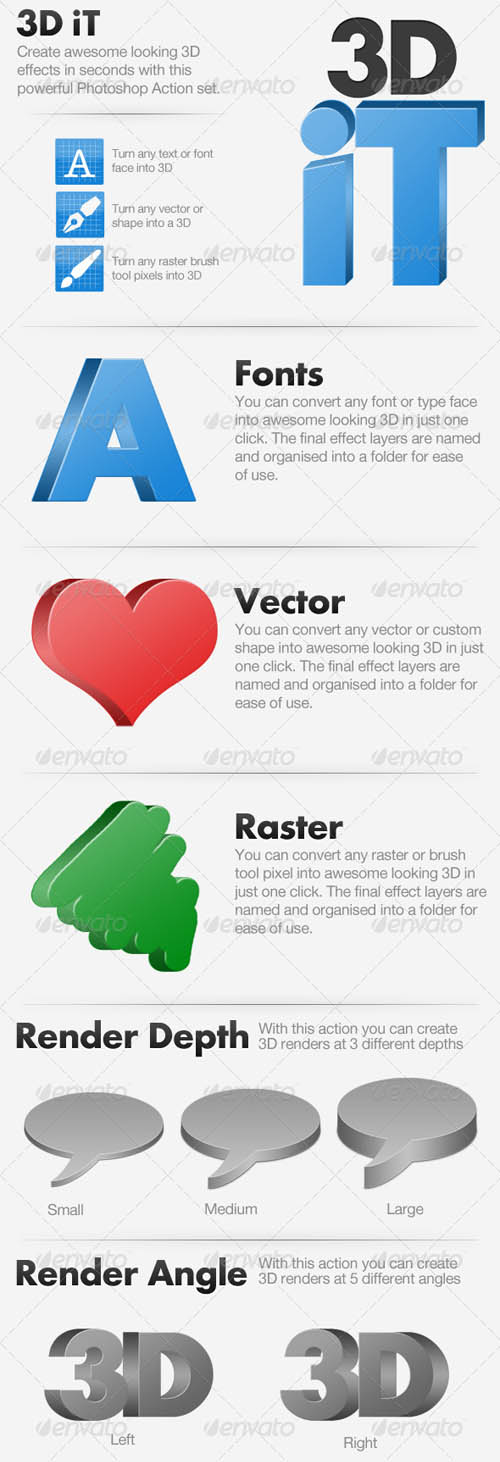 GraphicRiver - 3D iT - 15 3D Rendering Actions 120931