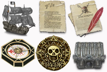 Pirates Caribian Icons