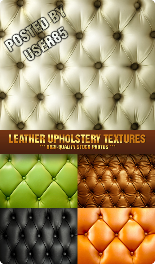 Stock Photo - Leather Upholstery Textures