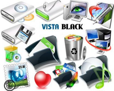 VISTA Black Icons. Иконки