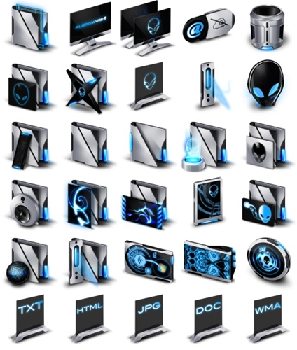 Alienware Invader Icons