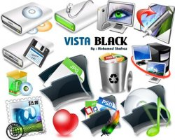 Vista Black Icons. ������
