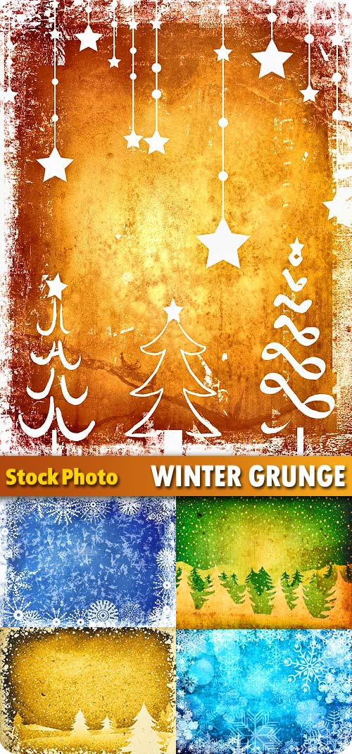 Winter grunge backgrounds