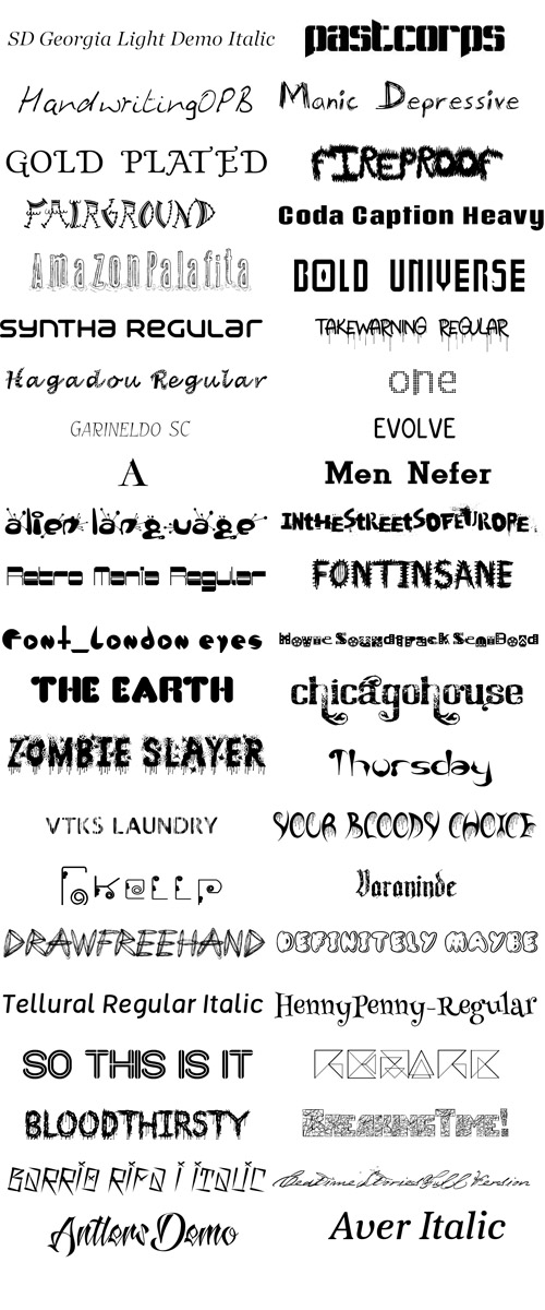 Pack 90 Fonts