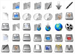 Mac OSX and Similar Icons - TriTanium-Squared Pack