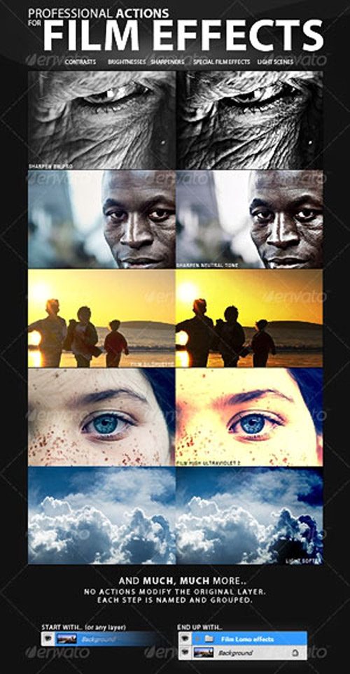 Professional actions for film effects - GraphicRiver