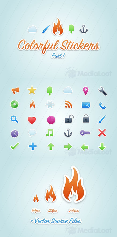 MediaLoot - Colorful Vector Stickers