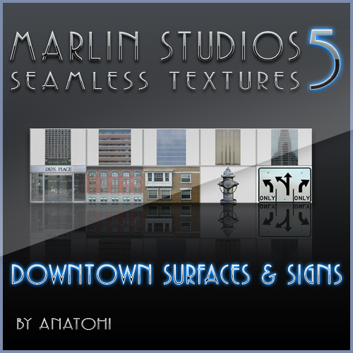 MARLIN STUDIOS - Seamless Textures 5 - Downtown Surfaces & Signs