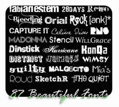 87 Great Fonts Collection