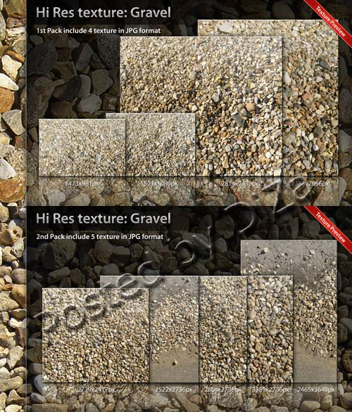 Texture Gravel Pack 01, 02