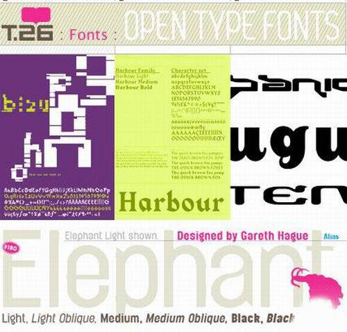 T.26 Type Foundry of Fonts