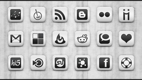 White Square Icons