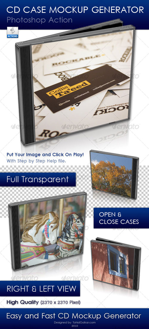 GraphicRiver - CD Case Mockup Generator