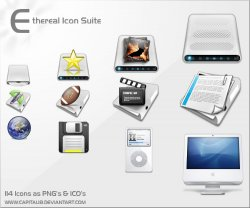 Etheral Icons. ������ � ������� ICO, PNG