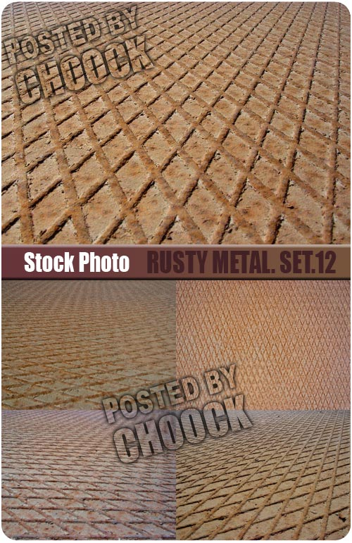Stock Photo: Rusty metal. Set.12