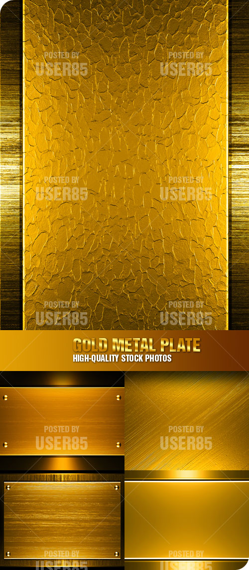 Stock Photo - Gold Metal Plate