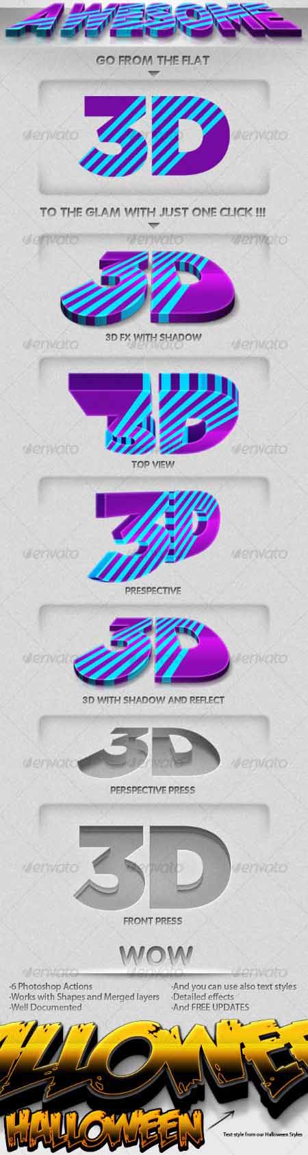 3D Generator - PS Actions GraphicRiver