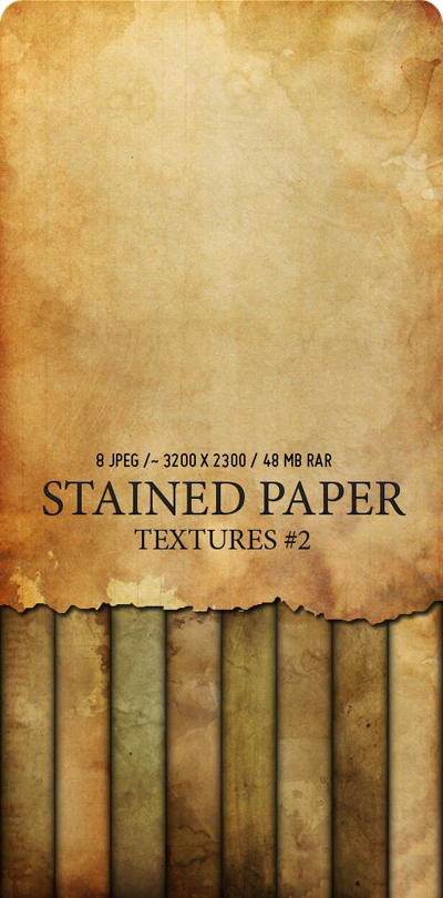 PSD Текстуры - Stained Paper - 2