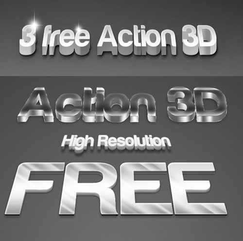 3D Actions for Photoshop