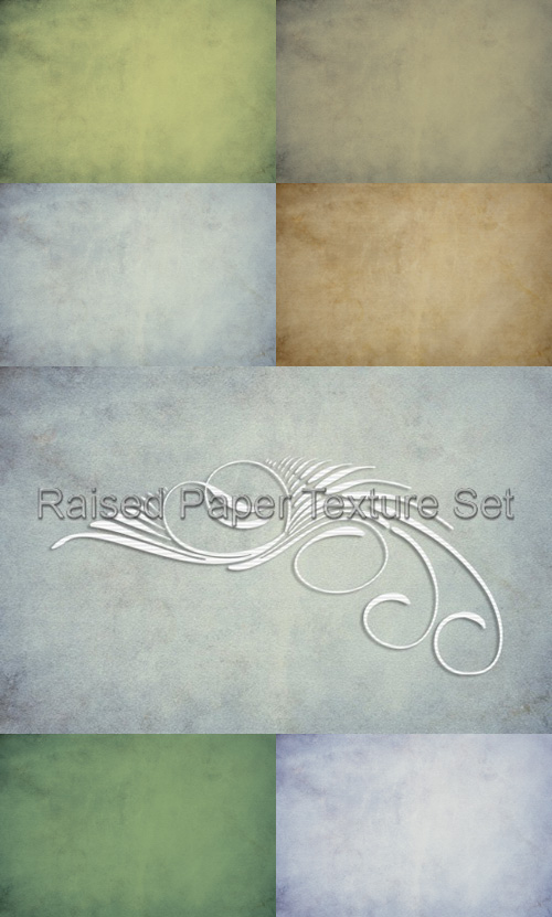 Raised Paper Texture Set