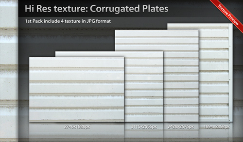 Texture Corrugated Plate Pack