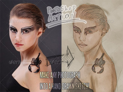 GraphicRiver Photograph to Sketch Art - Photoshop Action