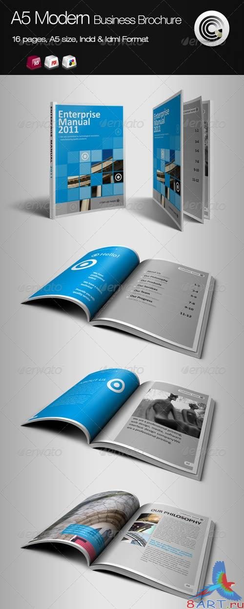 GraphicRiver A5 Vertical Modern Business Brochure